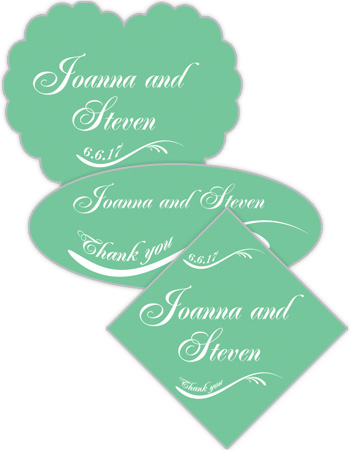 Wave Wedding Labels