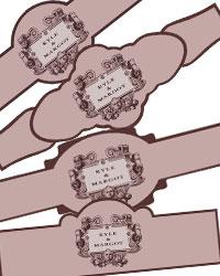 Baroque Cigar Band Labels