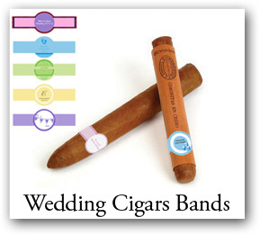 Customized Wedding Labels, personalized wedding cigar bands