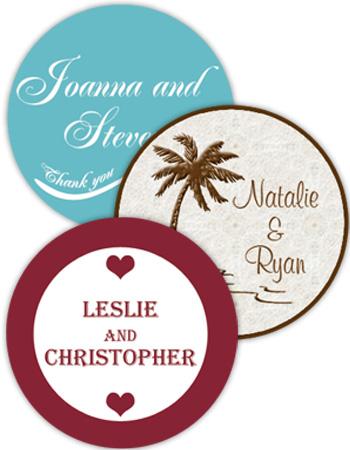 Wedding circle labels
