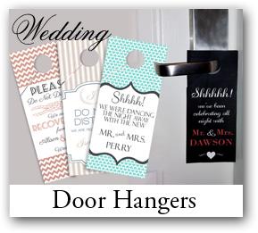 Wedding guest Favor Goodie Bag Door Hanger, Door Hangers, Fun Wedding Favor