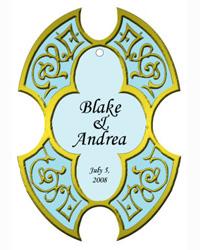 Medici Wedding Favor Tags