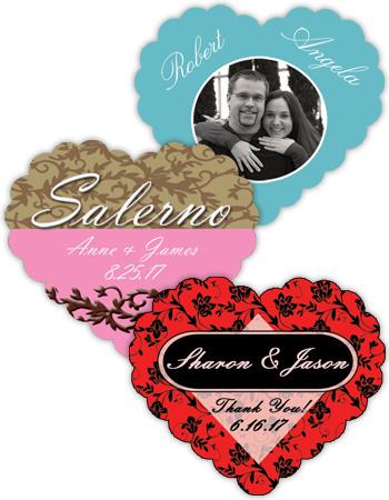 Heart Wedding Labels