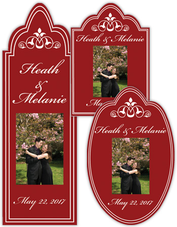 Wedding Scalloped Favor and Wine Label