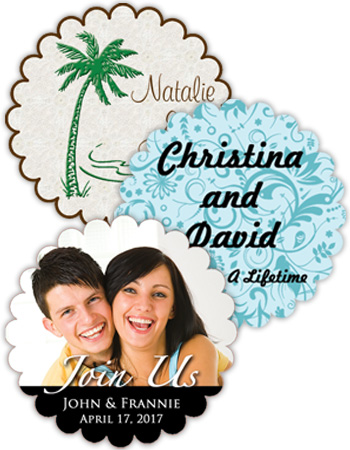 Wedding Scalloped Labels