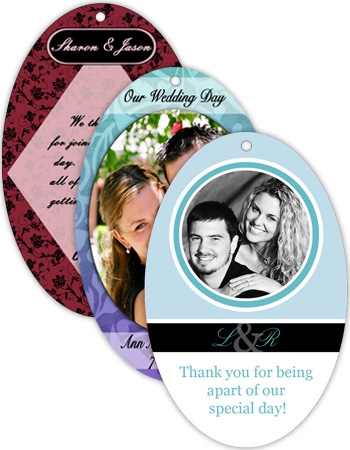 Vertical Oval Wedding Hang Tag