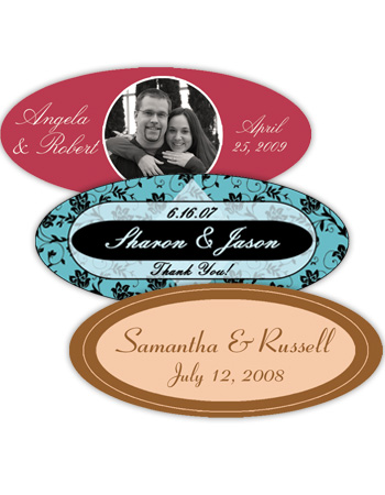 Wedding Horizontal Oval Labels