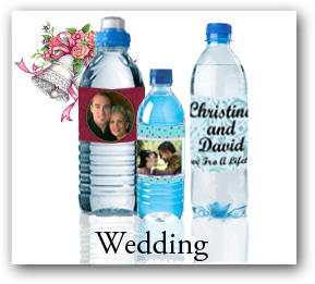 Personalized wedding water bottle labels, custom water bottle stickers cheap