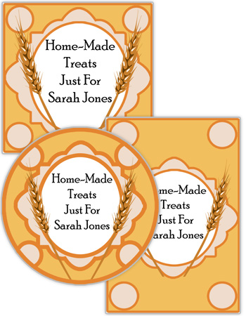 Wheat Food and Craft Labels