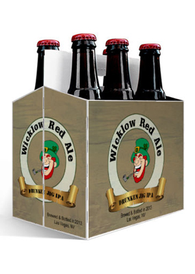 Wicklow Red Ale St. Patricks Day Six Pack Carriers