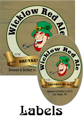 Wicklow Red Ale Saint Patricks Day  labels