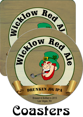 Wicklow Red Ale Saint Patrick Day Coasters