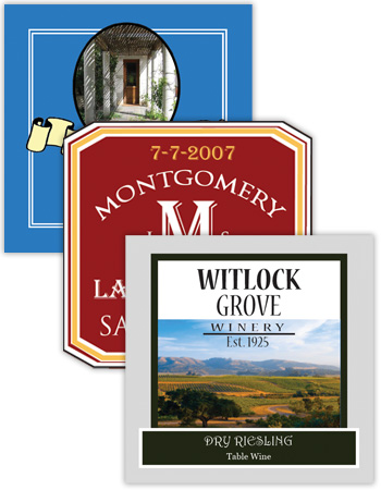 Wine Square Labels