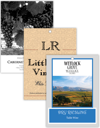 Vertical Rectangle Wine Hang Tag