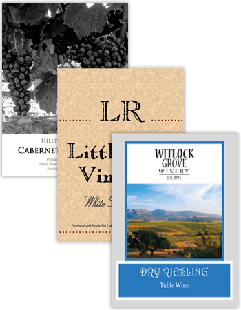 Wine Vertical Rectangle Labels