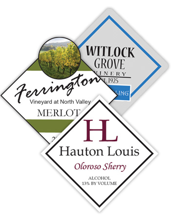 Wine Diamond Labels