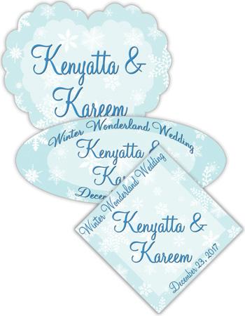 Winter Wonderland Wedding Labels