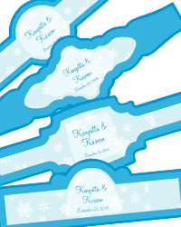Winter Wonderland Cigar Band Labels