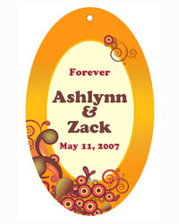 Abstract Wedding Favor Tags