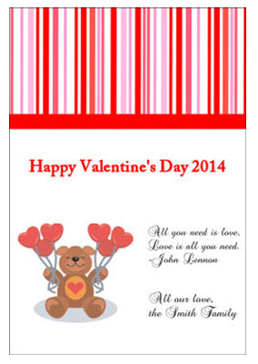 All You Need is Love Valentine Day Labels