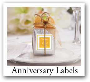 Custom Anniversary labels with photos