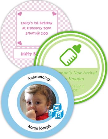 Baby Circle Labels