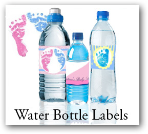 Personalized Christmas Water Bottle labels