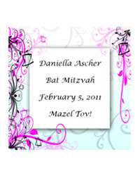 Bar-Bat Mitzvah Embellish Labels