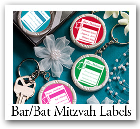 Personalized Custom Designed Bar-Bat-Mitzvah Labels