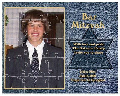 Bar and Bat Mitzvah Theme Puzzles