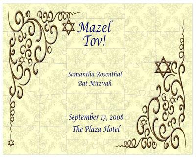 Bar and Bat Mitzvah Traditional Puzzles