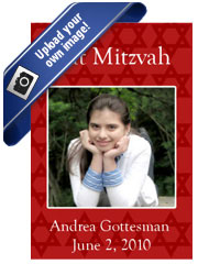 Bar-Bat Mitzvah Mazel Tov Labels