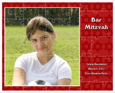 Bar Mitzvah Mazel Tov Puzzles