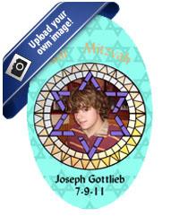 Bar Mitzvah Mosaic Labels