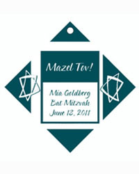 Bar Mitzvah Star Favor Tags