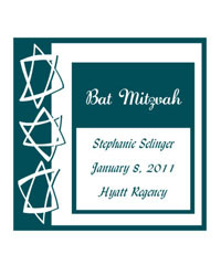 Bar Mitzvah Star Labels
