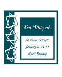 Bar Mitzvah Star Labels
