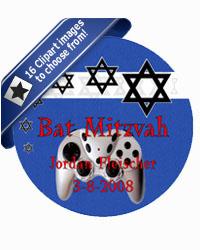 Bar Mitzvah Starburst Coasters