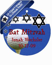 Bar Mitzvah Starburst Hang Tags
