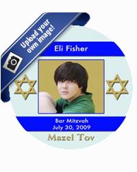 Bar Mitzvah Stripe Star Coasters