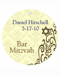 Bar Mitzvah Traditional Hang Tags