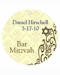 Bar Mitzvah Traditional Hang Tags