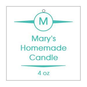 Basic Candle Hang Tag