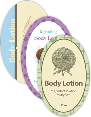 Bath&Body Vertical Oval Labels