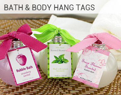 Online customizations and printing of favor tags, bridal shower ...