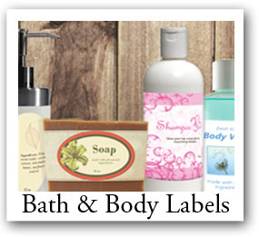 bath products labels, soap stickers, candle labels, shampoo ingredients labels