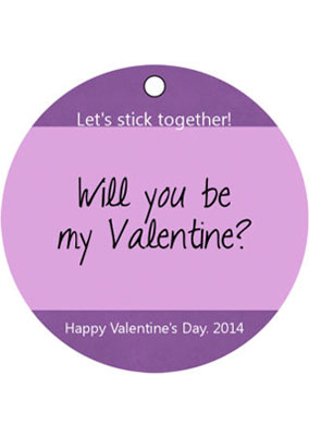 Be My Valentine Favor Tags