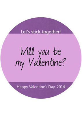 Be My Valentine Personalized Labels