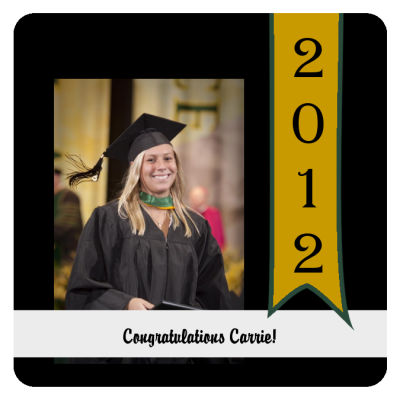 Best Wishes Graduation Coasters