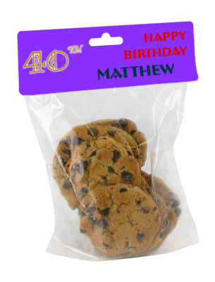 Age Birthday Bag Toppers with bag